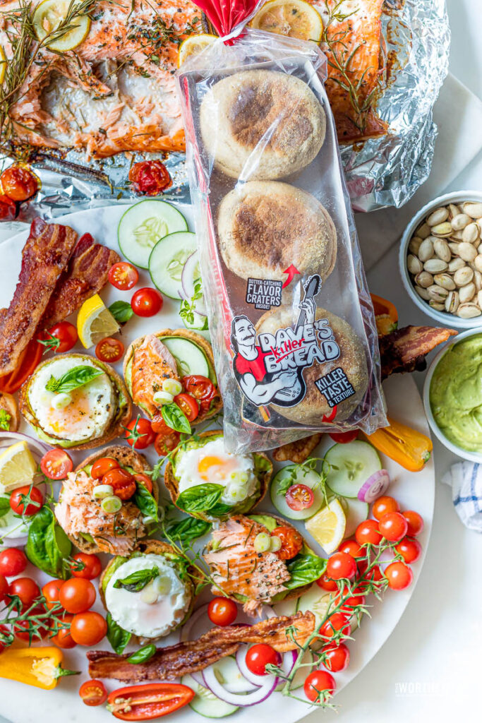 English Muffin Salmon Sliders Recipe
