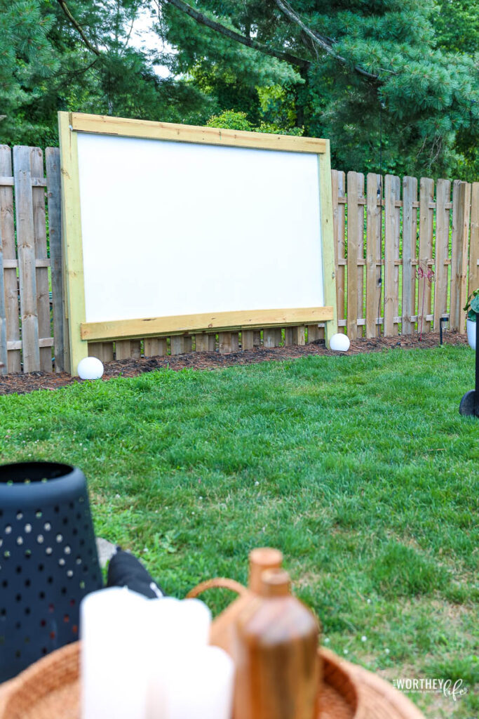 Material List + Directions for our Outdoor Movie Screen