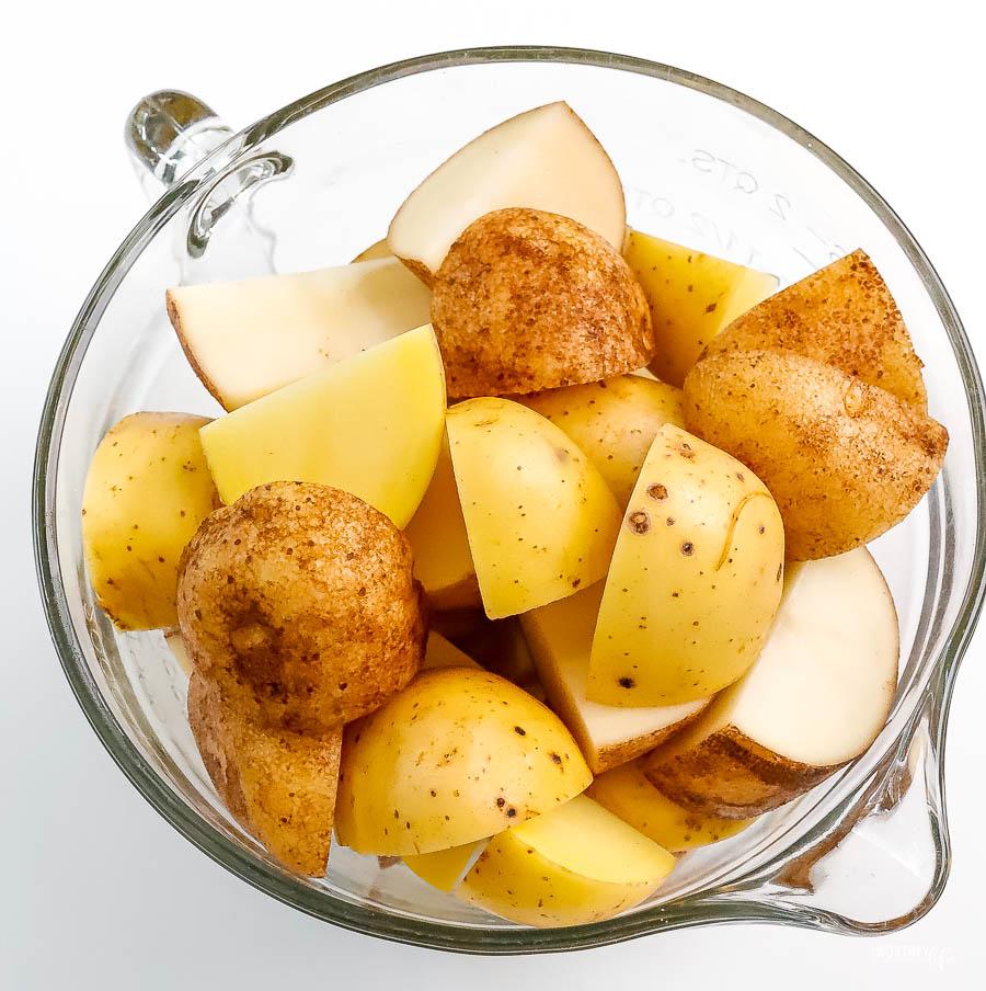 russett and yukon gold mashed potatoes
