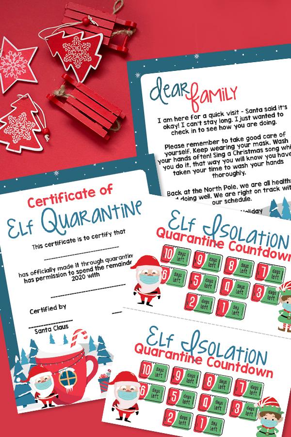 elf on the shelf quarantine printables