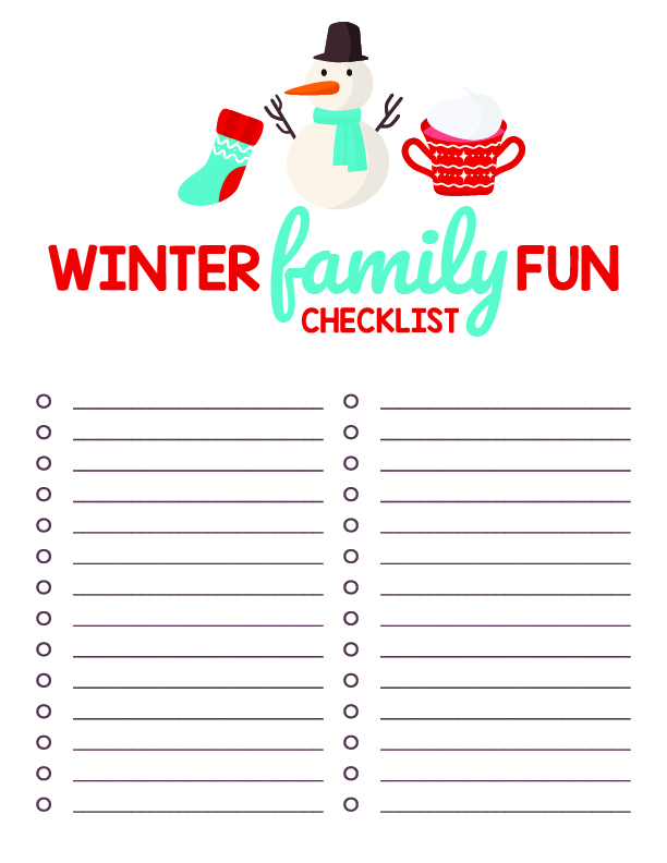 black free winter bucket checklist
