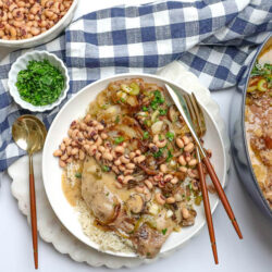 Braised Smothered Pork + Black-Eyed Peas