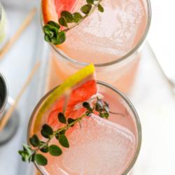 grapefruit gin martini