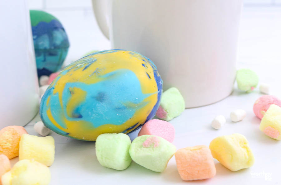 colorful easter egg bomb with white cup