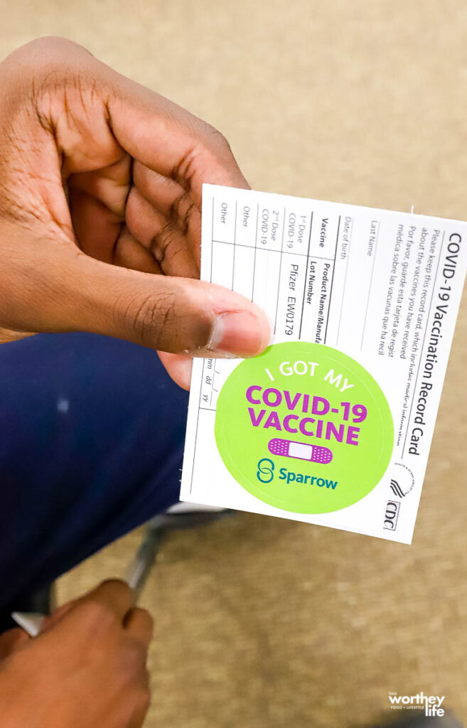 paperwork showing vaccination
