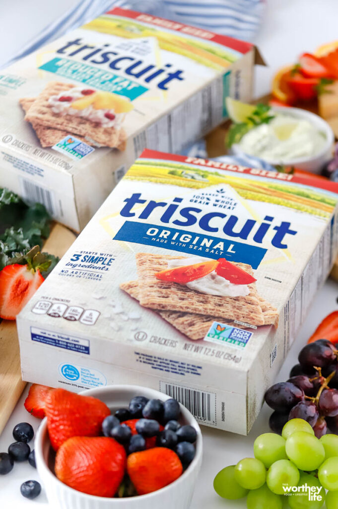 two boxes of triscuit crackers