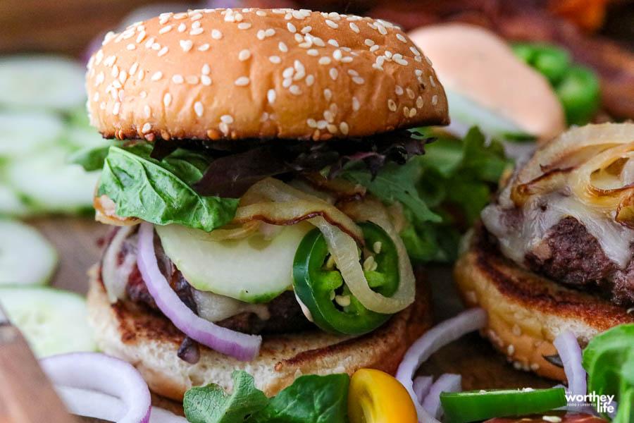 grilled burger idea