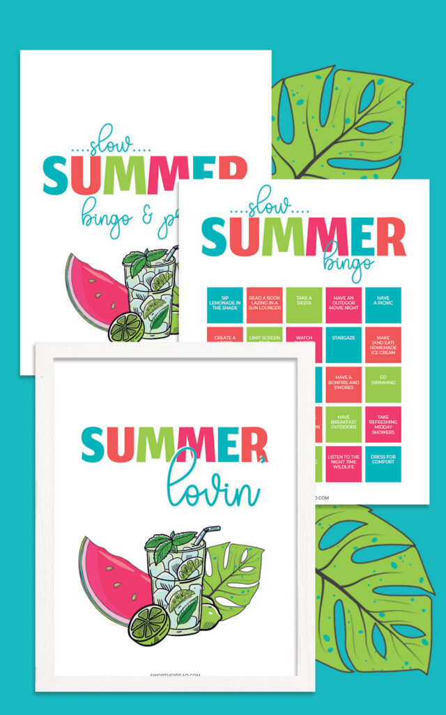 free summer bingo printable