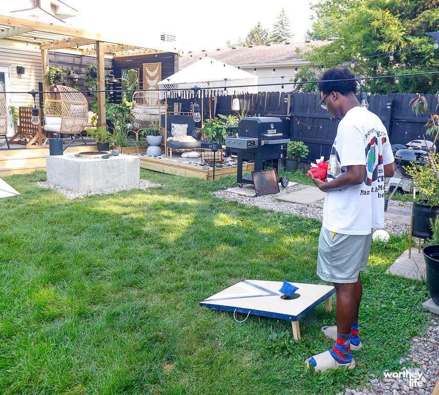backyard family games