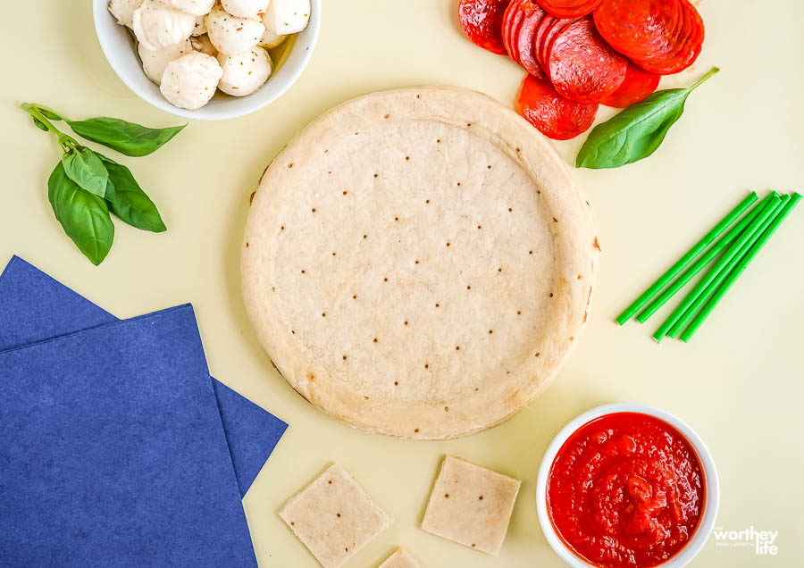 Recipe Ingredients needed for our Pizza Kabobs