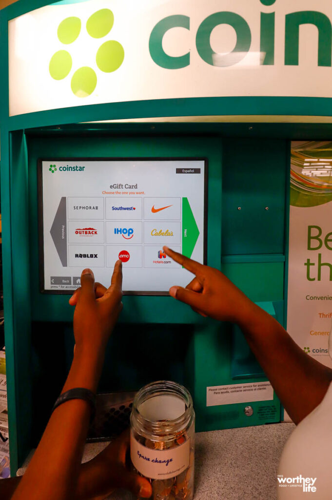 taking loose coins to the Coinstar Kiosk