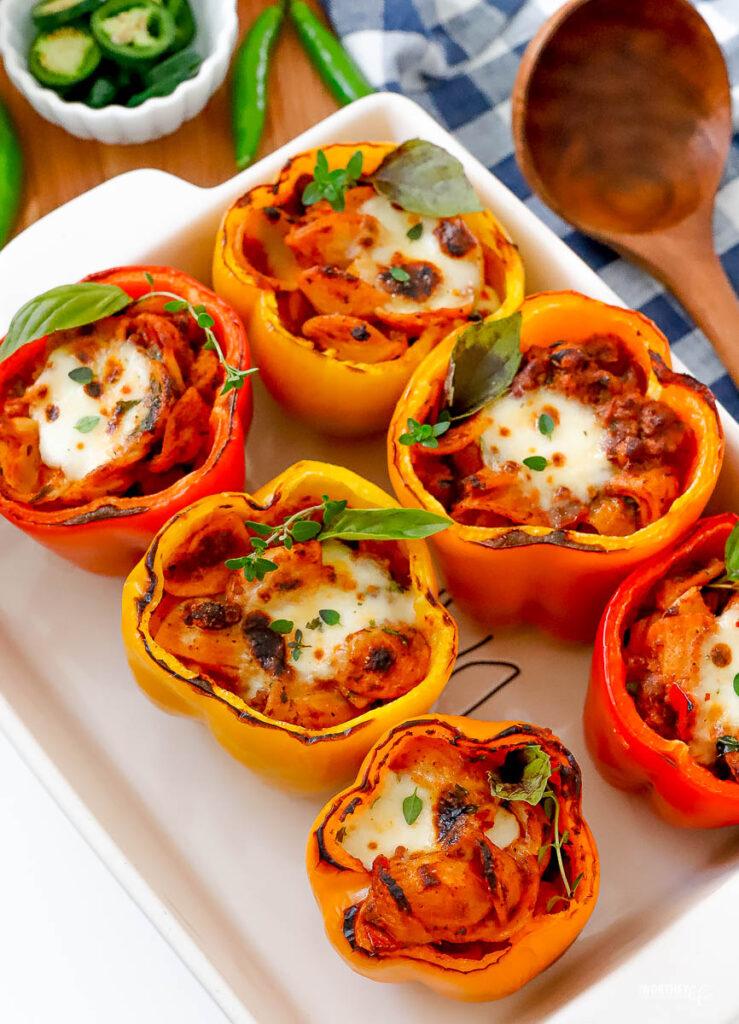 Chili Stuffed Peppers Easy Recipe