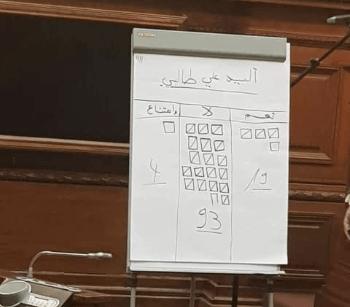 أعضاء مجلس الأمة يصوتون ضد تجريد السيناتور طالبي من الحصانة