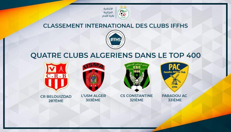 الأندية الجزائرية في التصنيف العالمي