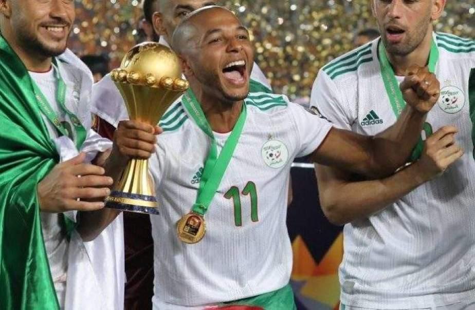 تتويج براهيمي بكأس أمم إفريقيا مع الخضر في كان مصر 2019
