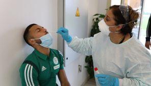 الخضر يخضعون لاختبارات كشف فيروس كورونا (كوفيد19)