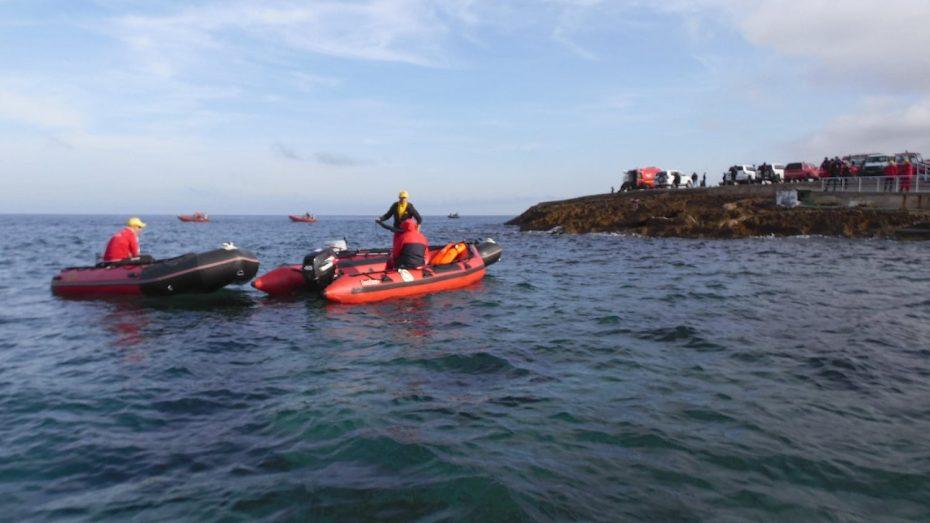 استمرار البحث عن الضابطين المفقودين بعرض البحر