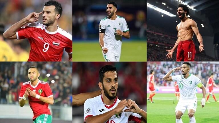 اللاعب العربي الأفضل.. محرز ينافس صلاح وزياش