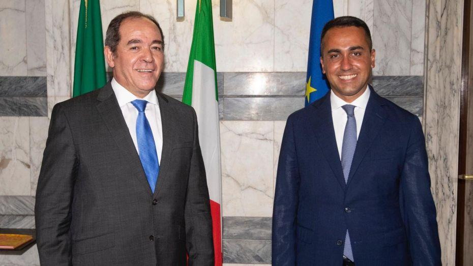 بوقدوم يتباحث مع نظيره الإيطالي الوضع في الصحراء الغربية وليبيا