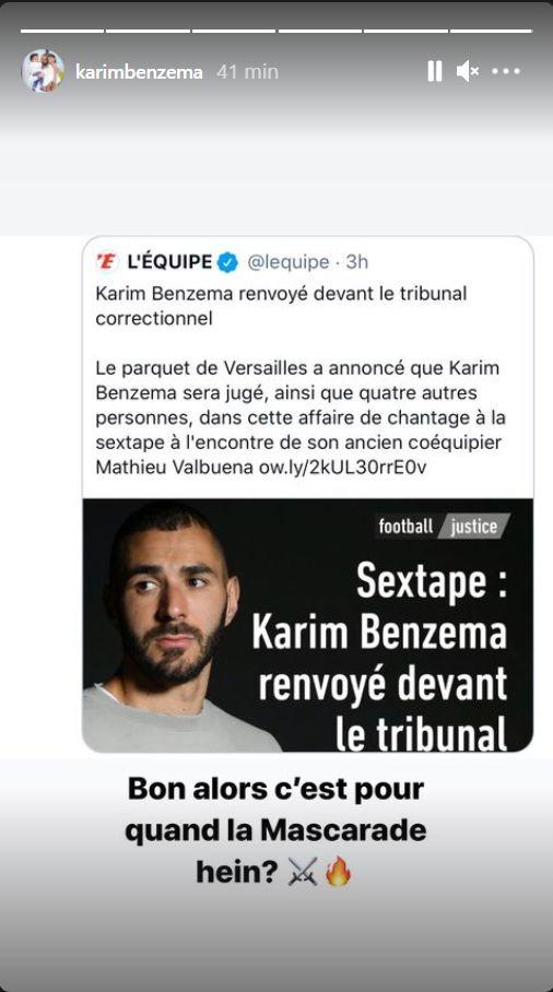 رد كريم بن زيمة على قرار إحالته على العدالة الفرنسية مجددا