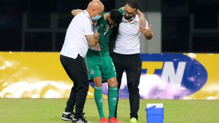 الاتحاد الجزائري لكرة القدم يكشف مدى خطورة إصابة رشيد غزال