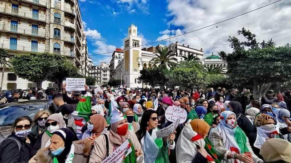 مسيرة النساء تجوب شوارع العاصمة بمناسبة عيد المرأة