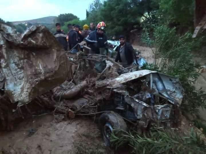 6 ضحايا جراء الأمطار الغزيرة في الشلف وقطع الطريق السريع