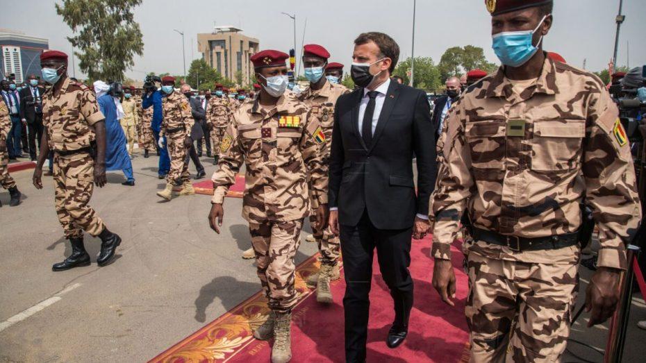 الرئيس الفرنسي في تشاد