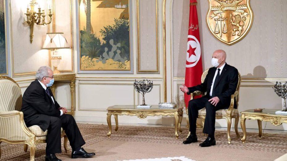 لعمامرة يتلقي مجددا مع الرئيس التونسي قيس سعيد