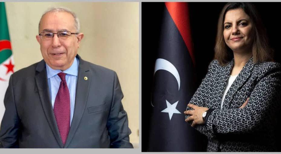لعمامرة يبحث الأزمة الليبية من نظيرته نجلاء المنقوش