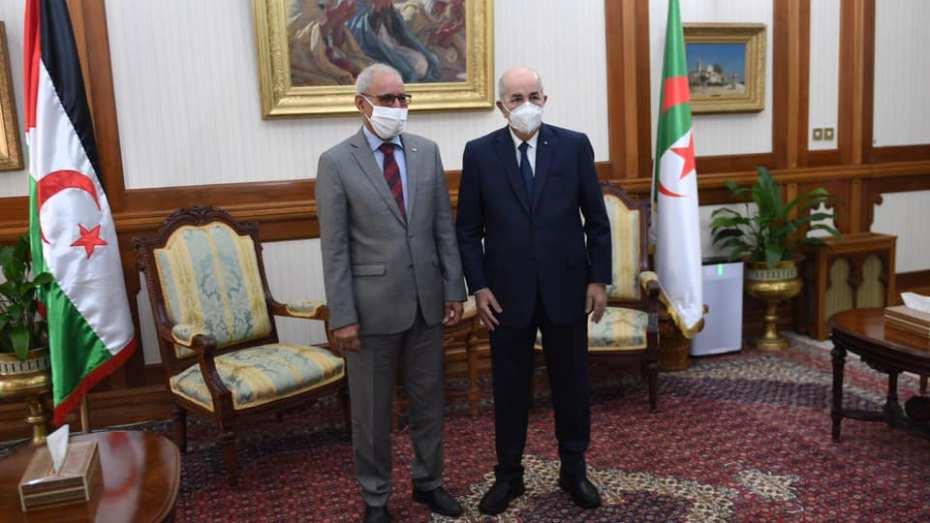 تبون يوجه رسالة شكر للرئيس الصحراوي إبراهيم غالي