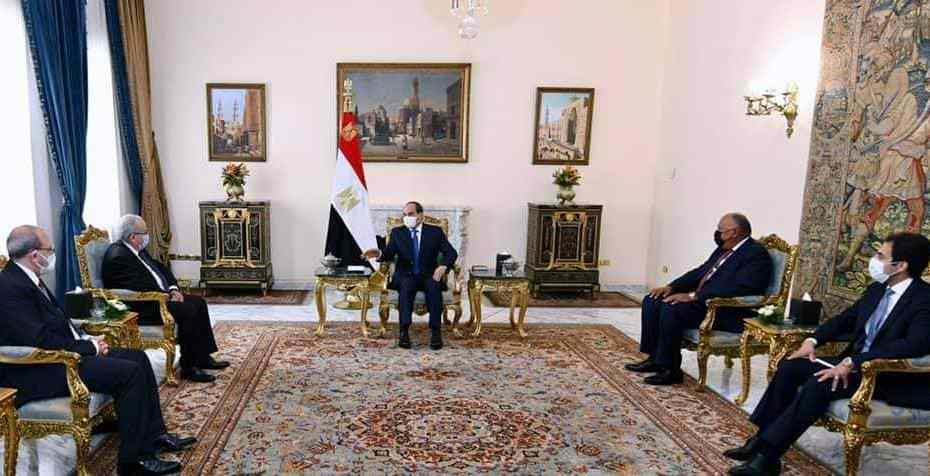 لعمامرة يلتقي بالرئيس المصري عبد الفتاح السيسي