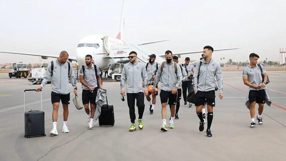 المنتخب الوطني الجزائري يصل إلى مدينة مراكش المغربية.. شاهد الفيديو