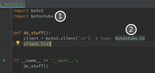 Code assistance for boto3, always up to date and in any IDE