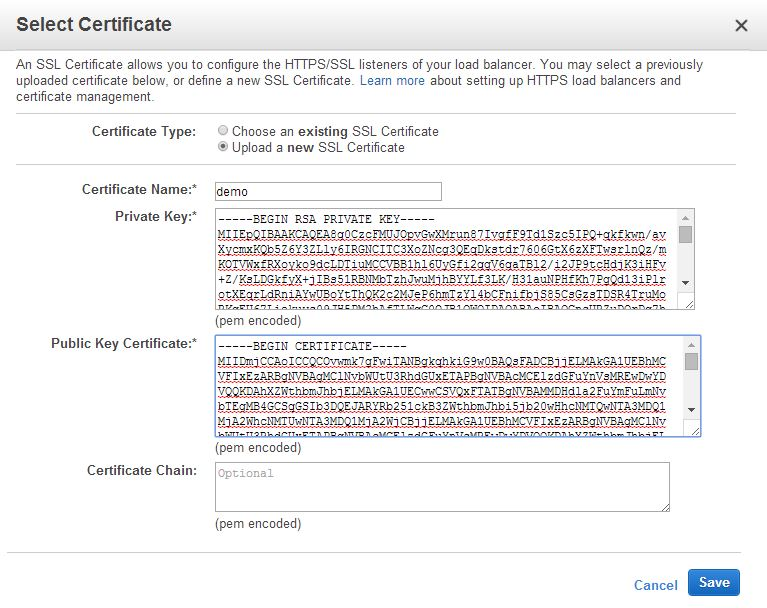 Amazon Web Services IAM IAM Server Certificates