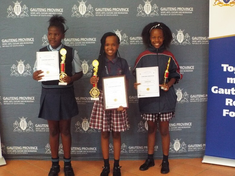 Left Learner from Rebonwe Primary got Second Position, Middle Ngele Semele Cultural Learner of the Year and Ndivho Hlungwani third Position
