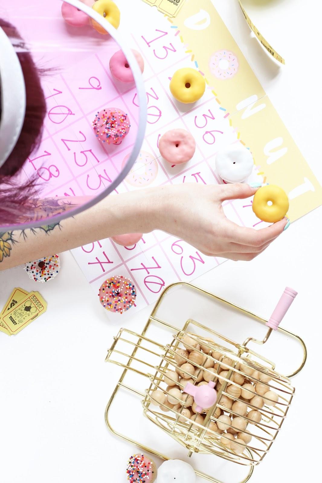 Mini Donut Game Night Printables
