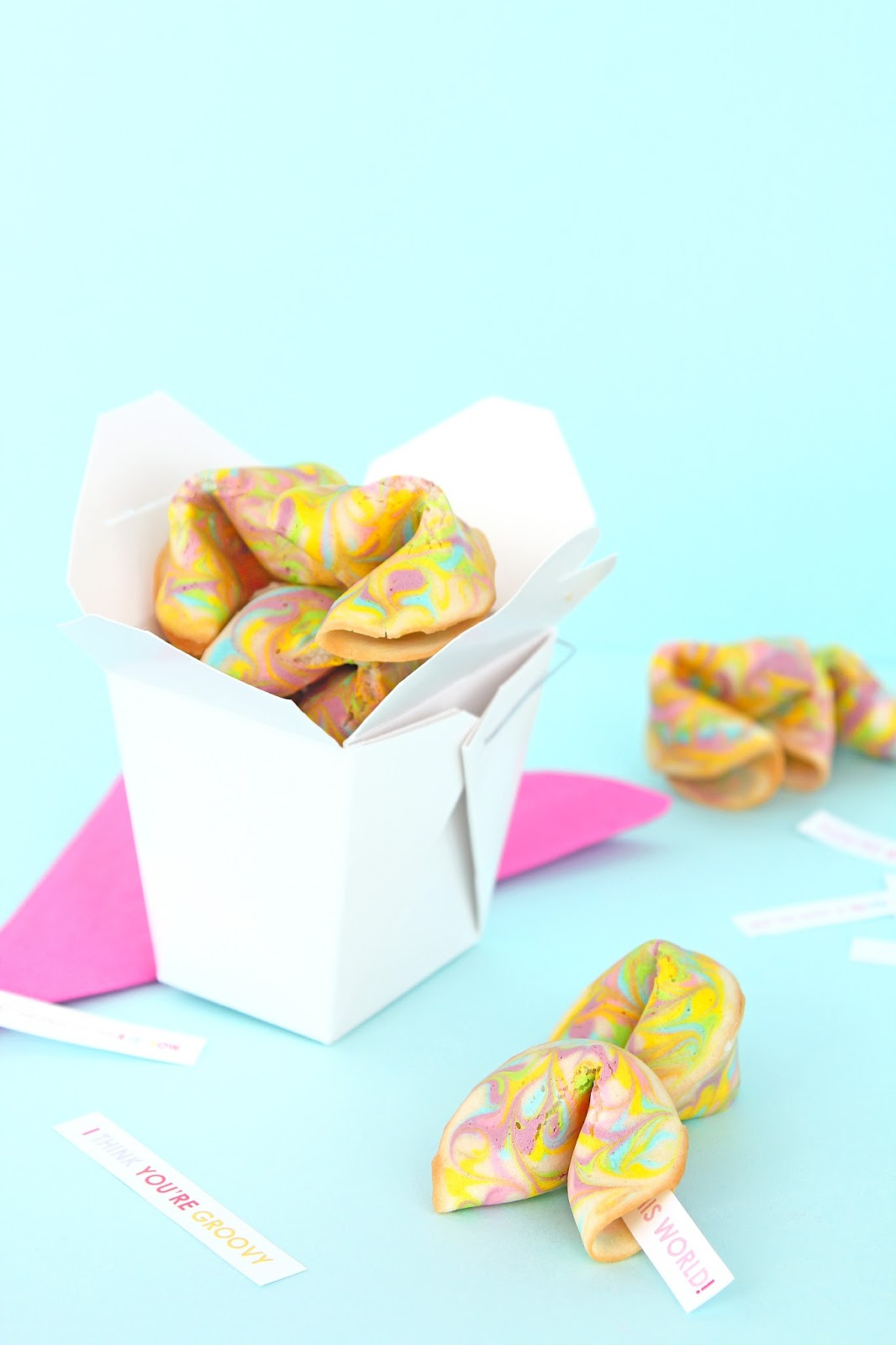 Rainbow Psychedelic Fortune Cookie Valentines Printables
