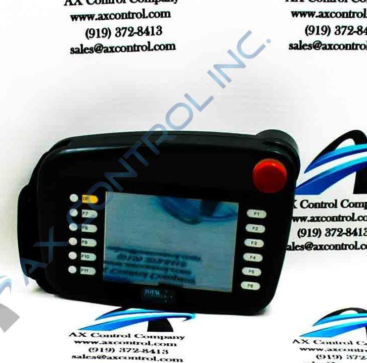 Closeup of a GE Handheld HMI.