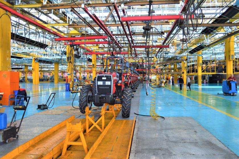 Machine repairs keep assembly lines humming, like this tractor assembly line.
