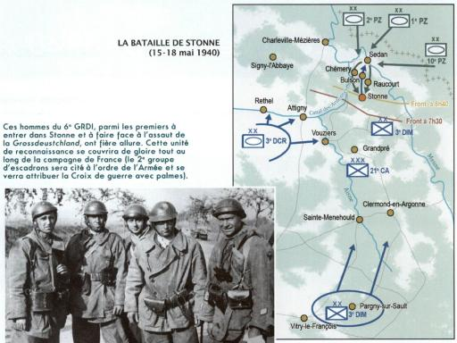 Stonne 1940 - carte de la bataille