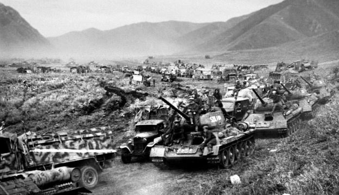 L'Armée rouge attaque en Mandchourie - 1945