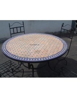 tables marocaines en fer forge et