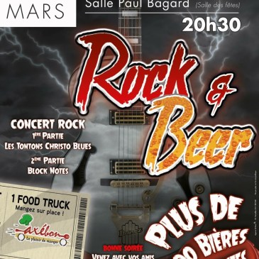 Soirée ROCK AND BEER le 25 mars 2017