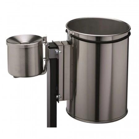 poubelle sur pied en inox avec cendrier integre poubelles d exterieur axess industries
