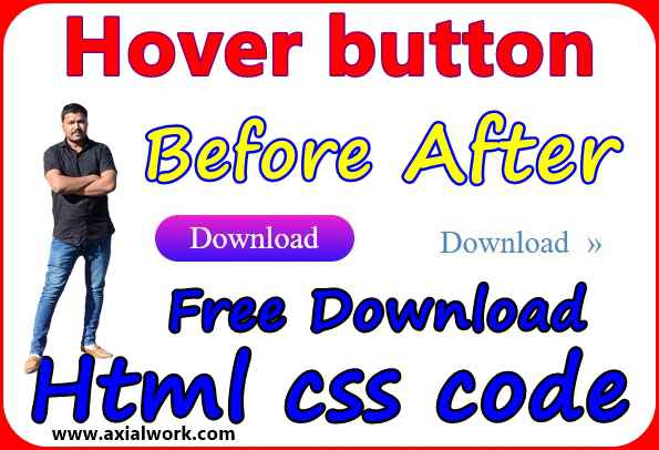 hover button html css code free download | html css tutorials