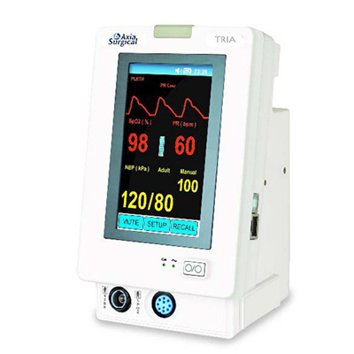 Axia TRIA Touch Screen Patient Monitor Featuring a Simple User Interface