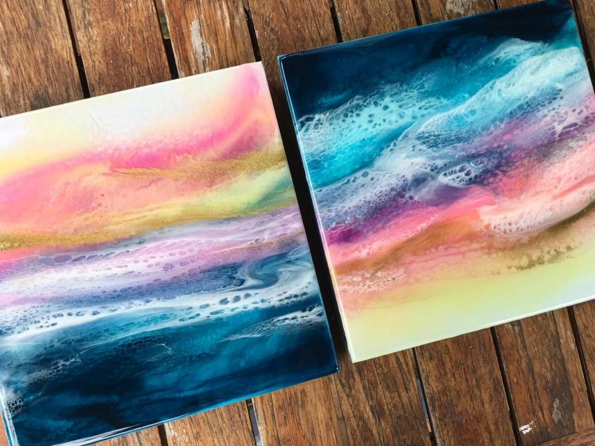 resin art with Giselle Yazye