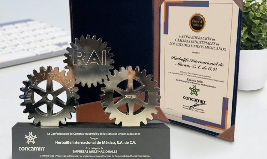 Herbalife Nutrition recibe por primera vez premio Ética y Valores en la Industria