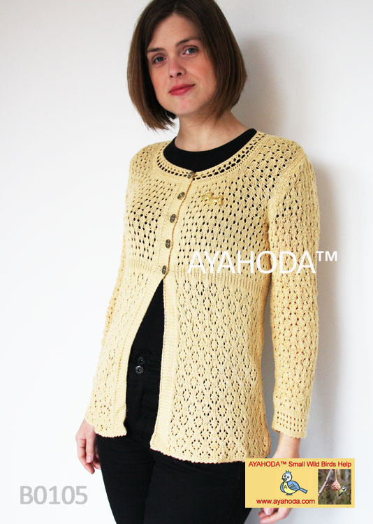 Ayahoda Handmade Designed Women knitwear sweaters Cardigans Business wear